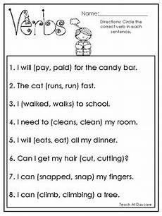 10 choose the correct verb printable worksheets in pdf file 1st grade 2nd grade