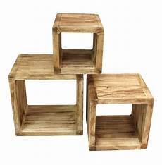 regale holz 3er set regal cube 44x35cm holzregal holz board used