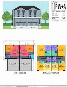two storey duplex house plans affordable duplex home plan preston wood associates