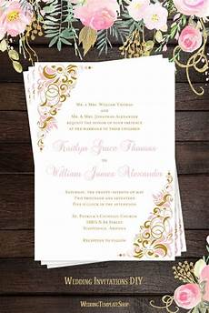 wedding invitation blush pink gold in 2019 blush