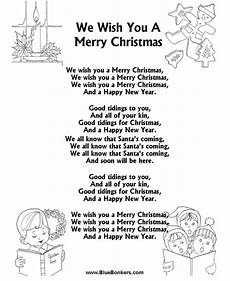 free printable words for quot we wish you a merry