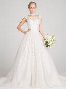 ball gown bateau cap sleeves tulle wedding dress with beading appliques wedding dresses us