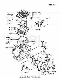 Kawasaki Fz340d Gs00 4 Stroke Engine Fz340d Parts Diagram