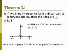 ppt lesson 3 2 proof and perpendicular lines powerpoint
