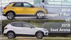 2018 volkswagen t roc vs 2018 seat arona technical