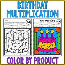 birthday color by number worksheet 16090 happy birthday math multiplication color by number worksheets by heuer