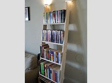 Furniture: Fancy Leaning Bookcase For Your Book Organizer