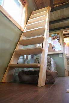 i want a ladder stair hybrid like this and it s from a mn tiny house house ladder tiny