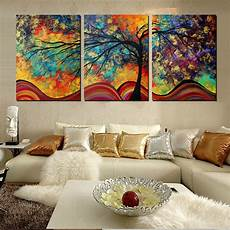 Living Room Home Decor Painting Ideas by Large Wall Home Decor Abstract Tree Painting Colorful