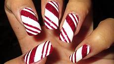 candy cane nail art tutorial youtube