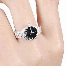 euramerican silver color wedding watch ring casual men and jewelry personalized rings