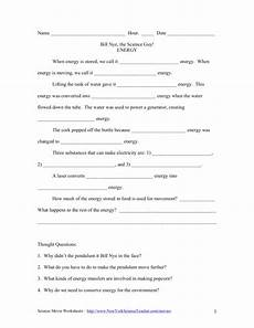 science worksheet energy 12191 bill nye the science energy worksheet for 5th 6th grade lesson planet