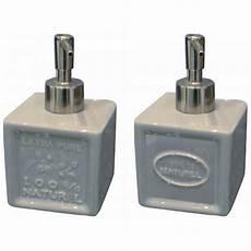 distributeur de savon liquide savon de marseille gris