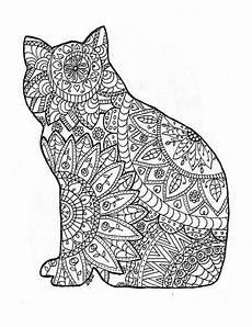 Ausmalbilder Katzen Erwachsene Malvorlage Katze Umriss 1ausmalbilder