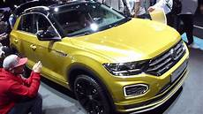2018 vw t roc r line at iaa frankfurt see also