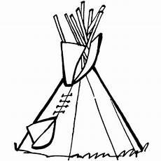 kostenlose malvorlage cowboys indianer tipi zum ausmalen