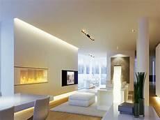beleuchtung im wohnzimmer modern 30 ideen mit led licht spots usw