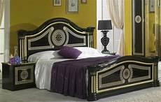 serena klassische schlafzimmer nachttische schwarz gold