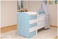wickelkommode und babybett blau babybett mit wickelkommode babybett kinderbett
