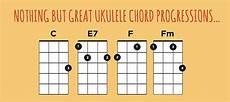 unique chord progressions ukulele chord progressions tool ukulele go