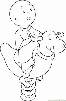 happy caillou coloring page free caillou coloring pages
