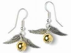 Harry Potter Ohrringe - harry potter inspired silver plated golden snitch earrings