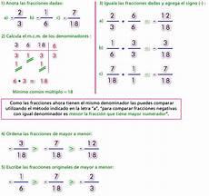como ordenar fracciones de menor a mayor comparaci 243 n de n 250 meros racionales