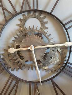 large metal cogs skeleton wall clock mulberry moon
