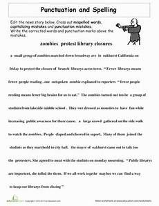 proofreading practice punctuation and spelling worksheet education com