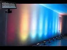 led wall up light dj led wedding uplight outdoor wall light 36 3w panel wash uplight ip65 youtube