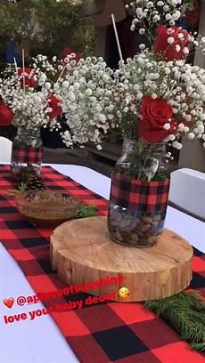 Buffalo Plaid Decorations by Buffalo Plaid Wedding Centerpieces And Black Check