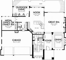 daylight basement house plans contemporary prairie with daylight basement 69105am
