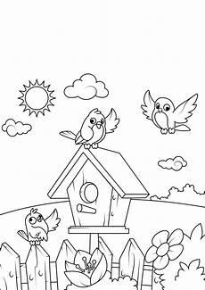 Malvorlagen Vogelhaus Gratis Malvorlage Fr 252 Hling Vogelhaus Kostenlose Ausmalbilder