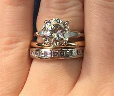 yellow gold band with white gold engagement ring