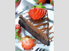 flourless chocolate raspberry cakes_image