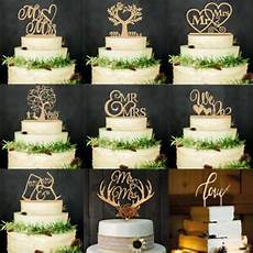 wooden wedding supplies cake decorations wood cake topper