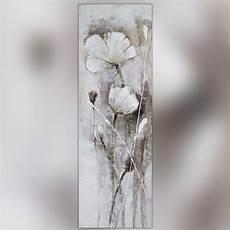 fleur des chs blanche peinture 50 x 150 cm
