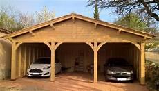 abri en bois pour voiture abri en bois pour 3 voitures r 233 alisation sur mesure par