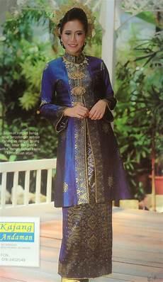 royal blue songket kebaya pahang wedding kebaya traditional