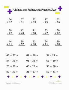addition and subtraction practice subtraction worksheets and worksheets pinterest