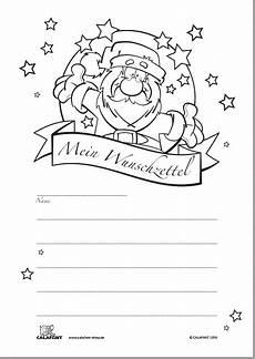 kostenloser wunschzettel quot weihnachten quot zum ausmalen