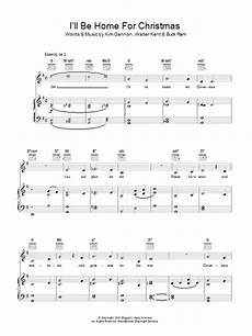 i ll be home for christmas sheet music direct