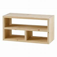 meuble tv cube cube meuble tv en pin massif brut 3 niches matendance