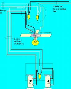 how to wire a ceiling fan for separate control fo the fan and the light