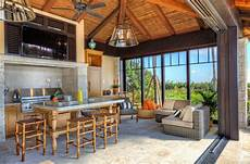 Decorating Ideas For Outdoor Kitchen by Tropical Style Outdoor Kitchen Enclosed But Opens To