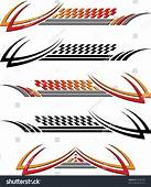 Vehicle Graphics Stripe  Vinyl Ready Stock Vector