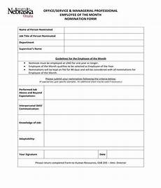 free 10 employee of the month nomination forms in pdf ms word
