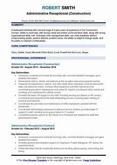 administrative receptionist resume sles qwikresume