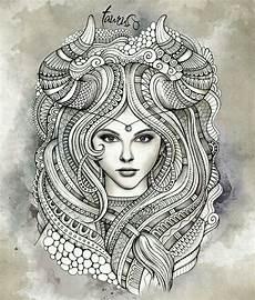 Mandala Frau - taureau mandalas coloring coloring for