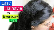 easy hairstyles for school college or office everyday hair style simple hairstyle for girls